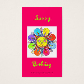Sunny Birthday Series #7 Business Card