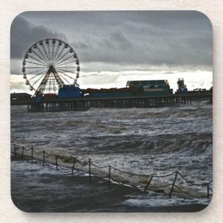 Sunny Blackpool Beverage Coaster