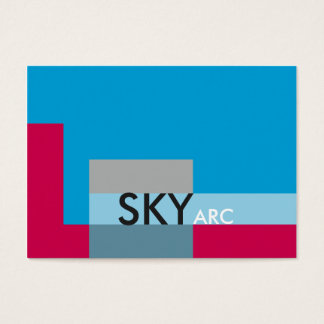 Sunny Blocks Blue Red Business Card