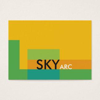 Sunny Blocks Green Yellow Business Card