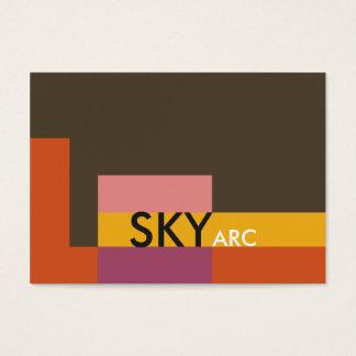 Sunny Blocks Orange Brown Business Card