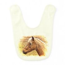 Sunny Blonde and Brown Horse Animal Bib