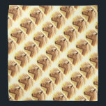 """Sunny Blonde Brown Horse Animal Bandana<br><div class=""""desc"""">Here is a great bandana featuring a repeating pattern of a beautiful golden brown horse backlit by the yellow sun.</div>"""