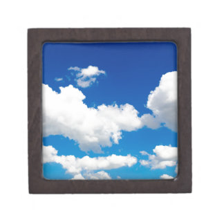 Sunny blue sky with white clouds jewelry box