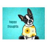 Sunny Boston Terrier Custom Message Postcard