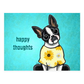 Sunny Boston Terrier Custom Message Postcard