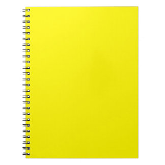 Sunny Bright Yellow Spiral Note Book