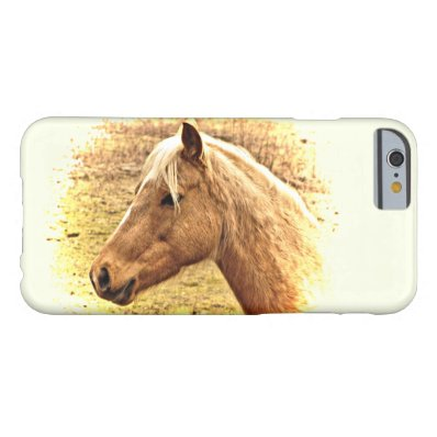 Sunny Brown and Gold Horse Animal iPhone 6 Case