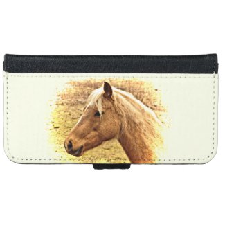 Sunny Brown Gold Horse iPhone 6 Wallet Case