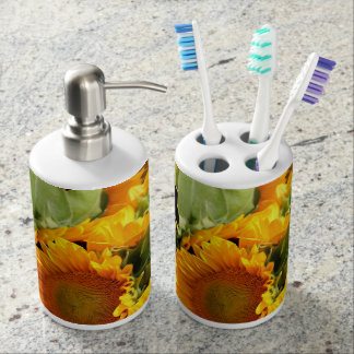Sunny Bunch Toothbrush Holder and Soap Dispenser