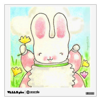 Sunny bunny wall decal