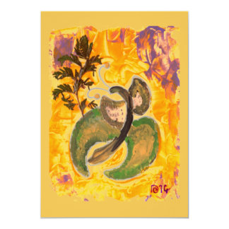 Sunny Butterfly, fine art acrylic painting card