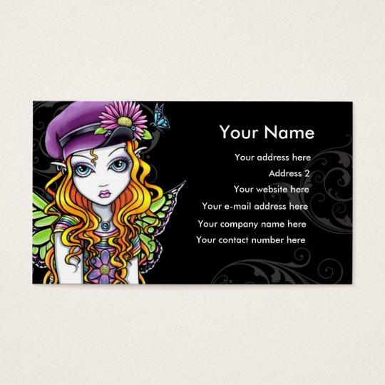 """""""Sunny"""" Butterfly Rainbow Fairy Business Card"""