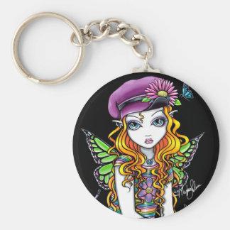 """Sunny"" Candied Butterfly Rainbow Fairy Keychain"