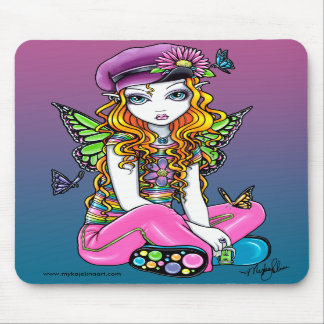 """""""Sunny"""" Candied Butterfly Rainbow Fairy Mousepad"""