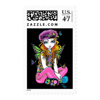 """Sunny"" Candied Butterfly Rainbow Fairy Postage"