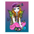 """Sunny"" Candied Butterfly Rainbow Fairy Postcard"