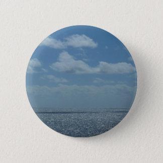 Sunny Caribbean Sea Blue Ocean Button