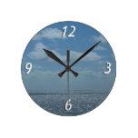 Sunny Caribbean Sea Wall Clock