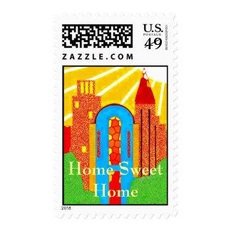 Sunny Castle Postage Stamp