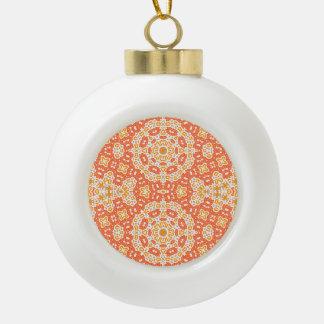 sunny ceramic ball christmas ornament