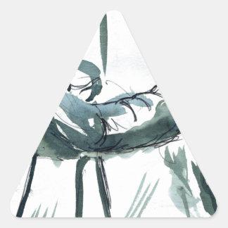 sunny chair triangle sticker