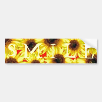 Sunny Cheerful Sunflower Macro Floral Collage Car Bumper Sticker