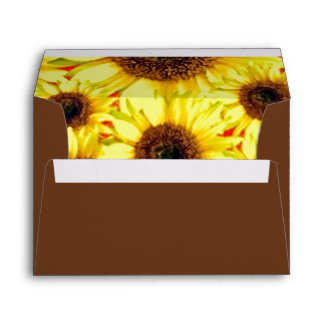 Sunny Cheerful Sunflower Macro Floral Collage Envelopes