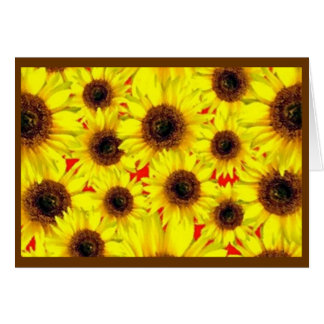 Sunny Cheerful Sunflower Macro Floral Collage Greeting Card