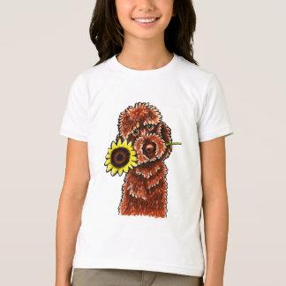 Sunny Chocolate Labradoodle Off-Leash Art™ T-Shirt
