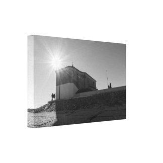 Sunny church canvas print