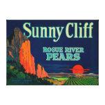 Sunny Cliff Pear Crate LabelMedford, OR Canvas Print