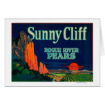 Sunny Cliff Pear Crate LabelMedford, OR Greeting Card