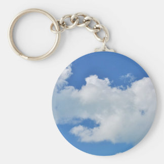 sunny cloud basic round button keychain