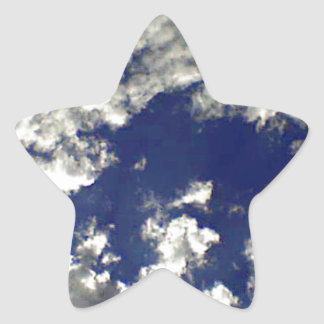 Sunny Clouds Mix Star Sticker