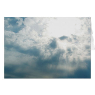 Sunny Clouds Note Card