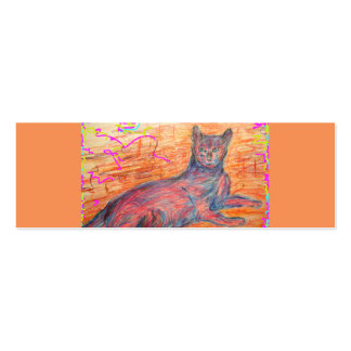 sunny cobblestone cat Double-Sided mini business cards (Pack of 20)