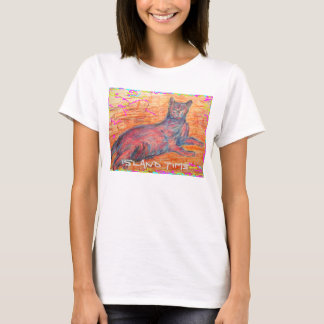 sunny cobblestone cat island time T-Shirt
