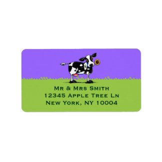 Sunny Cow Blue Sky Address Label