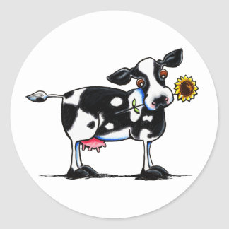 Sunny Cow Classic Round Sticker