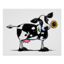 Sunny Cow Poster