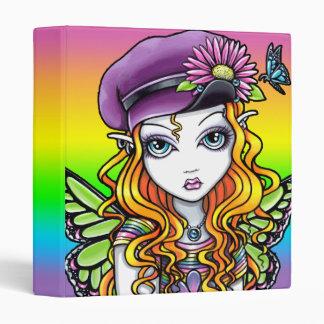 """""""Sunny"""" Cute Rainbow Butterfly Fairy Avery Binder"""