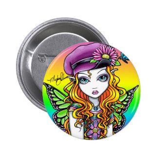 """""""Sunny"""" Cute Rainbow Butterfly Fairy Button"""