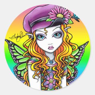 """Sunny"" Cute Rainbow Butterfly Fairy Stickers"