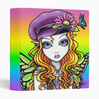 """Sunny"" Cute Rainbow Butterfly Flower Binder"