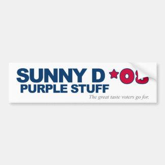 Sunny D, Purple Stuff '08 Campaign Bumper Sticker2 Bumper Sticker