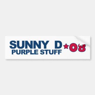 Sunny D w/Purple Stuff '08 Campaign Bumper Sticker Car Bumper Sticker