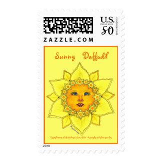 Sunny Daffodil - Postage Stamp