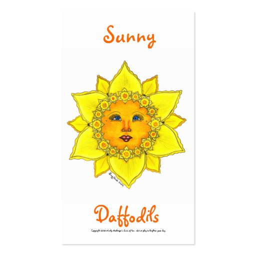 Sunny Daffodil Series #2 Business Card