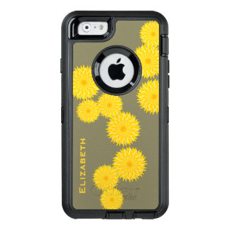 Sunny dandelion strand pattern OtterBox defender iPhone case
